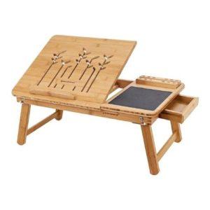 Mesa plegable de estudio en bambú para laptop y tablet