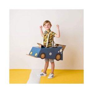 Disfraz de coche de cartón para niños de Mister Tody. Juguete ecológico de vehículos de cartón