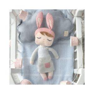 Muñeca de trapo y tela ecológica. Regalo para babyshower
