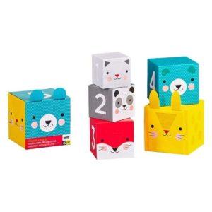 Apilables de cartón de Petit Collage. Juguete y regalo ecológico para babyshower