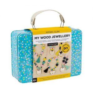 Maletín de manualidades para hacer joyas de madera de Petit Collage