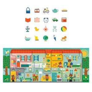 Puzzle de cartón ecológico de Petit Collage para seguir con el dedo y observar objetos