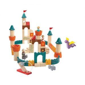 Bloques de madera para construir un castillo de Plan Toys