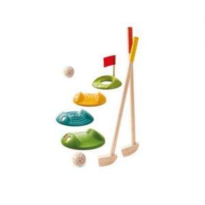 Mini golf de juguete para niños en madera de Plan Toys