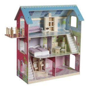 Casas de madera de muñecas de Roba Kids. Juguete respetuoso con el medio ambiente
