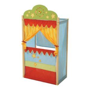 Teatro guiñol de tela y madera de Roba Kids