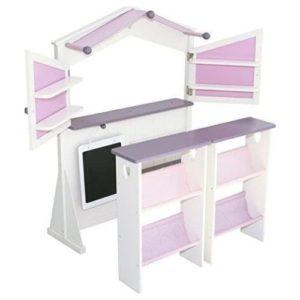 Tienda con mostrador en color rosa y violeta de Roba Kids, Juguete respetuoso con el medio ambiente