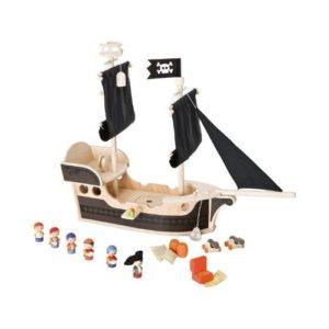 Barco pirata de madera para niños de Sevi. Juguete respetuoso con el medio ambiente