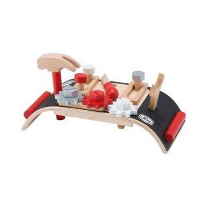 Mesa de trabajo de bricolaje en madera para niños pequeños
