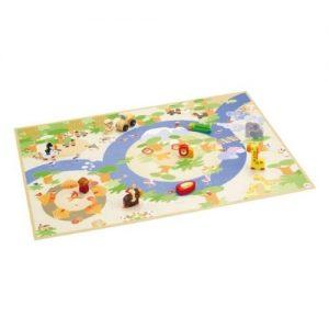 puzzle de madera infantil con mini figuras