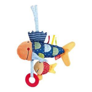 Sonajero de peces en tela ecológica de Sigikid. Regalo babyshower