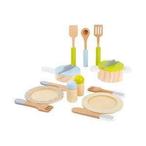 Accesorio de loza para cocina de juguete en madera. Juguete ecológico de Small Foot Company
