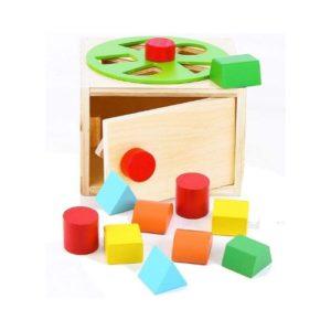 juguete ecológico en madera de encajar piezas de Towo