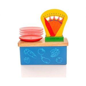 Báscula de juguete en madera de Viga. Juguetes ecológicos