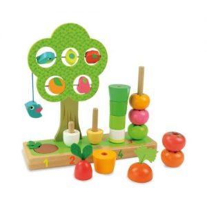 Juego ecológico de apilar bloques de madera de Vilac