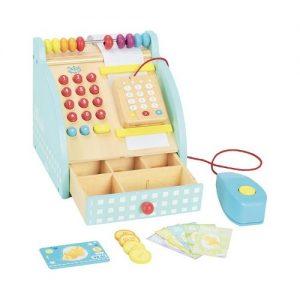 Caja registradora de juguete de madera de Vilac