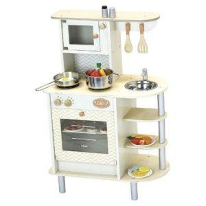 Cocina preciosa con accesorios múltiples de la marca Vilac. Juguete ecológico