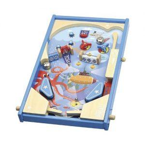 Pin Ball de mesa en madera para niños de Vilac. Juego ecológico