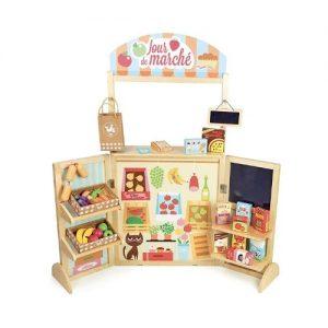 Tienda de alimentos de juguete en madera de Vilac. Juegos ecológicos