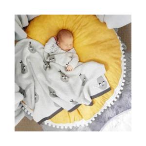 Alfombra redonda en algodón para bebé. Regalo para babyshower