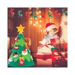 Árbol de Navidad de fieltro para niños. Juguete ecológico para fiestas navideñas
