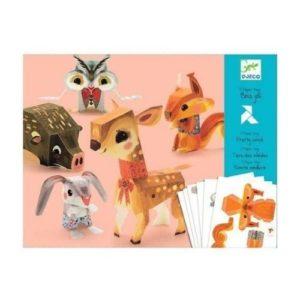 Juego de origami para hacer animales de papel de Djeco. Juguete ecológico