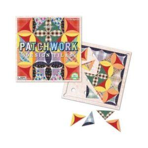 Juego de cartón para diseñar patchwork de Eeboo. Juguete ecológico