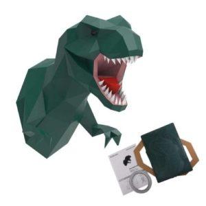 Origami con forma de dinosaurio T-Rex en cartón de Endark