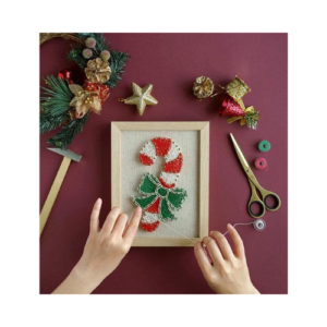 Kit de clavos e hilos. Manualidades de Navidad para niños ecológicas