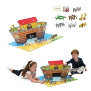 Arca de Noé de cartón para ensamblar. Vehículos de cartón ecológico