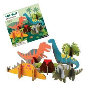 Playset pop out de Petit Collage de dinosaurios. Juguete ecológico