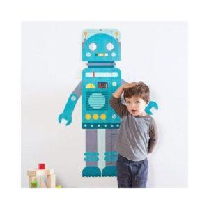 Medidor de cartón con forma de robot de Petit Collage. Juguete ecológico infantil de decoración