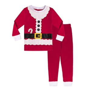 Pijama de Papa Noel o Santa Claus infantil de algodón. Regalo navideño para niños