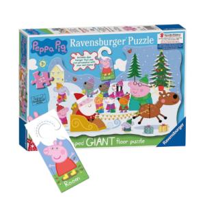 Puzzle Peppa Pig de 32 piezas con temática navideña. Juguete infantil para Navidad