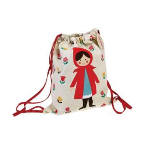 Bolsa saco de algodón para niños con ilustración de Caperucita roja de Rex International