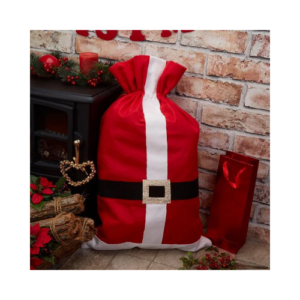 Saco de regalos de Papa Noel para guardar los regalos de Navidad bajo el árbol
