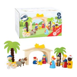 Portal de Belén en madera infantil de la marca Small Foot Company. Regalo ecológico para Navidad