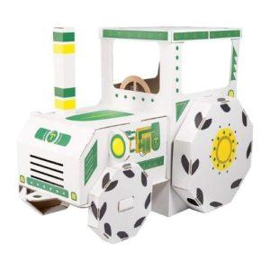 Tractor de cartón para montar y decorar de Small Foot Company. Vehículos de cartón ecológico
