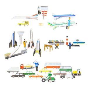 Vehículos de cartón ecológico para ensamblar de Studio Rook Kindonroof